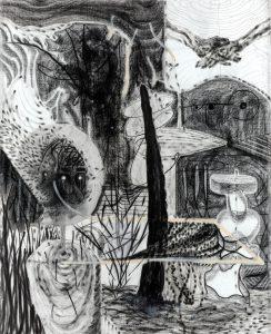 Questions-1, 캔버스에 혼합매체, 200×160cm, 2018