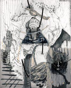 Questions-2, 캔버스에 혼합매체, 200×160cm, 2018
