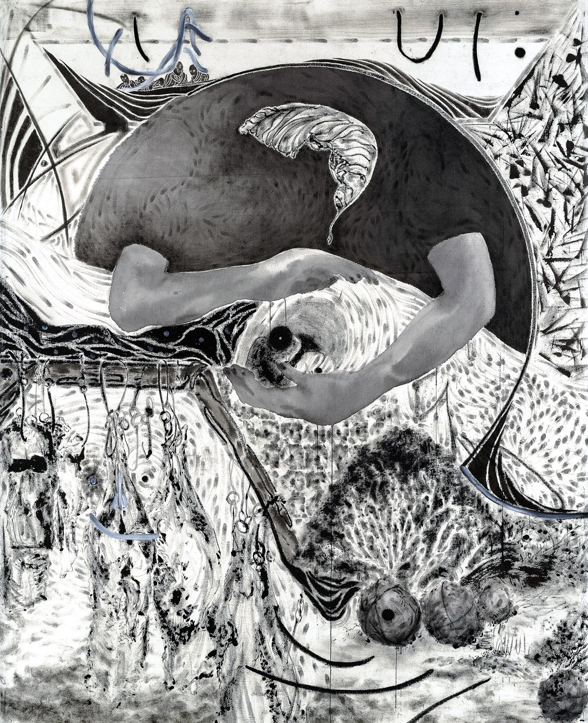 Questions-3, 캔버스에 혼합매체, 200×160cm, 2018
