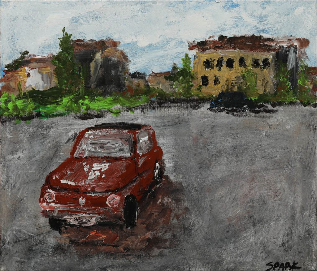 Nose's Cinquecento, Acrylic on canvas, 53 x 45cm, 2016