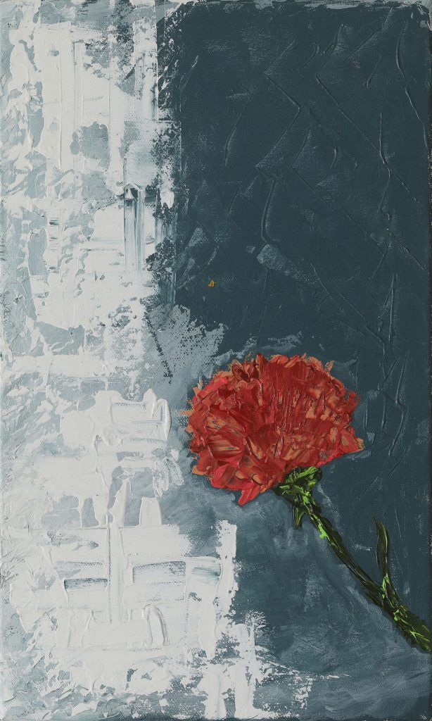 Carnation, Acrylic on canvas, 27 x 45cm, 2017